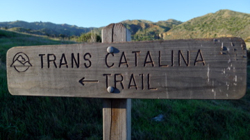 Trans Catalia Trail Sign