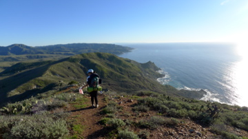 Trans-Catalina trail from Two Harbors to Little Harbor
